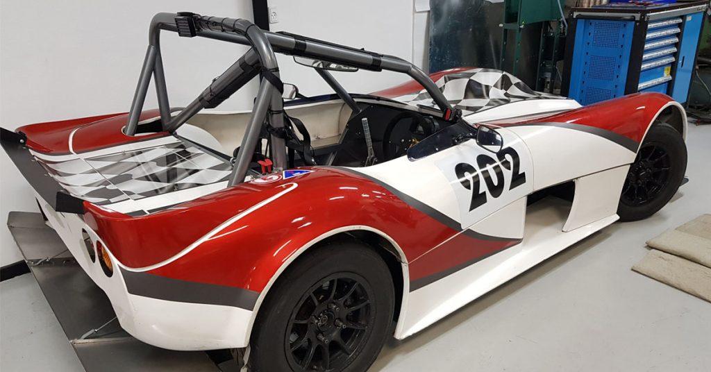 Her er bilen til den nye sæson bag
