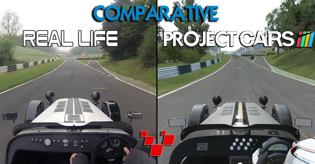 Sammenligning real life of Project CARS 2
